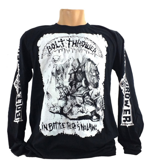 Camiseta Bolt Thrower In Battle Theres Is No Law Manga Longa