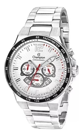 Relógio Champion Pulseira Prata Lançamento Masculino Cronógrafo Prata Ref. - Ca30463q