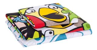Sabanas Infantiles 1 1/2 Plaza Angry Birds Cuotas