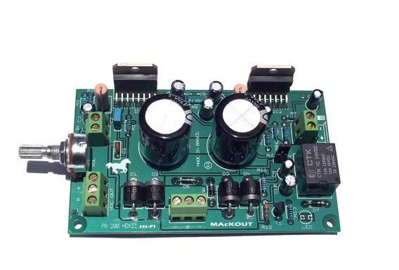 Placa Amplificador 200w Rms + Trafo + Pré Meq3x