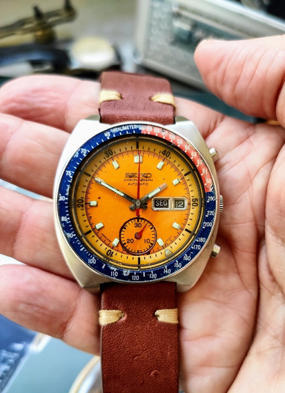 Seiko 6139 Crono Pogue Mostrador Amarelo