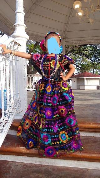 Traje Chiapas Niña 6-8años 6 Olanes