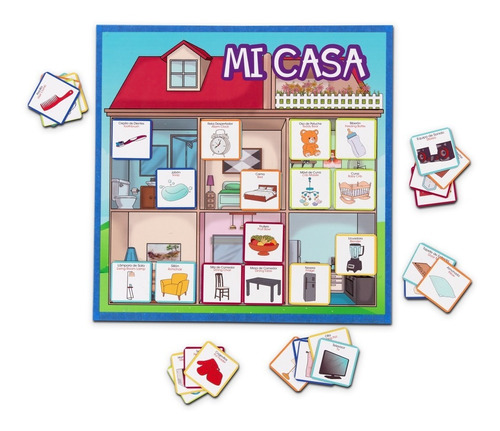 Tablero Didáctico Mi Casa - Imantado Ms