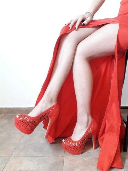 Zapato Mujer Rojos Fiestas Egresados