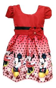 Kit 4 Vestido Temático Infantil Unicórnio Masha Lol Minnie