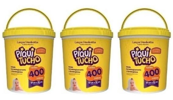 Feelclean Piquitucho Lenços Umedecidos C/400 (kit C/03)