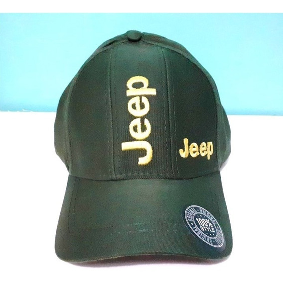 Boné Bordado Jeep Masculino E Feminino Aba Curva