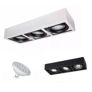 Spot Plafon Ar111 Aplique Techo 3 Luces Led + Ar111 Led 15w