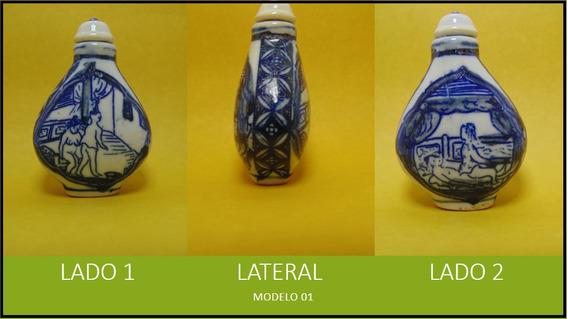 Frasco Rapé Snuf Porcelana Pintado A Mão Kama Sutra Modelo 1