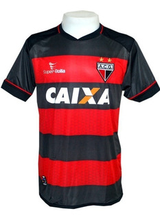 Camisa Super Bolla Atlético Goianiense 2013 - Preta-vermelha