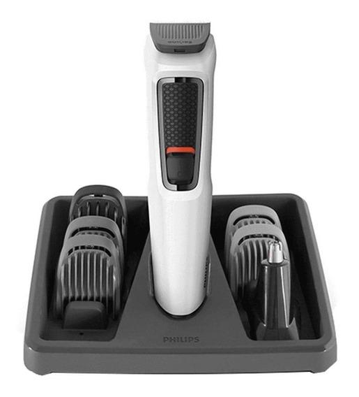 Aparador E Barbeador De Pelos Cabelo E Barba Multigroom 7 Em 1 Philips Recaregável Bivolt