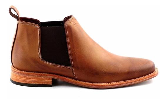 Zapato Bota Cuero Hombre Briganti Premium Elegante Hcbo00900