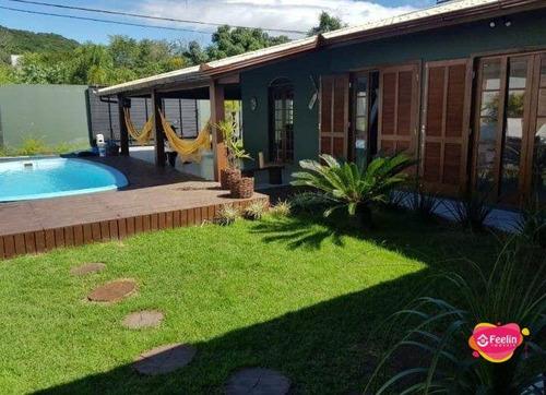 Imagem 1 de 30 de Casa Com 4 Dormitórios À Venda, 300 M² Por R$ 1.398.000,00 - Rio Tavares - Florianópolis/sc - Sc - Ca0072_feelin