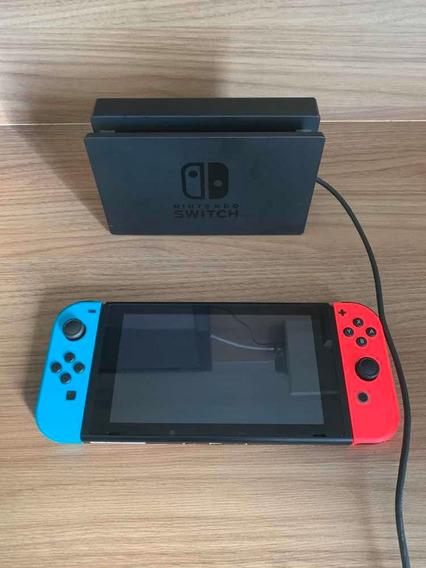 Nintendo Switch, 3 Jogos, Controle Extra Mário E Case