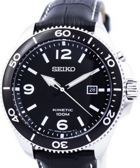 Relógio Seiko Kinetic Ska747p2 - Tam. Grande- Garantia Seiko