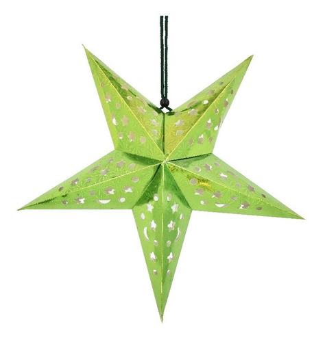 Colgante En Forma De Estrella De Carton