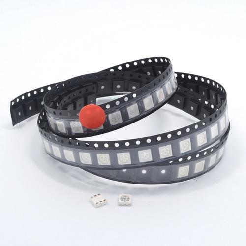 Led 5050 Smd 3-chips Rojo Plcc-6
