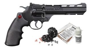 Pistola Co2 Revolver Vigilante Mun/diabolos Cal. 4.5 Mendoza