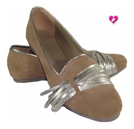 Mocasin Chatita Cuero Descarne Modelo Flecos De Shoes Bayres
