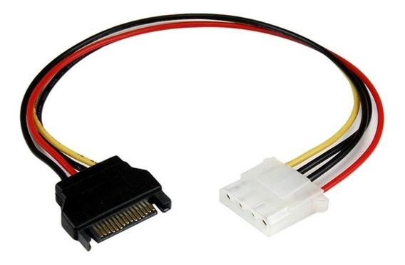 Cable Corriente Power Sata Macho A Molex Pc Riser Gpu 5 Unid