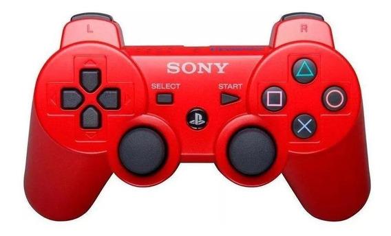 Controle Dualshock 3 Vermelho Sem Fio