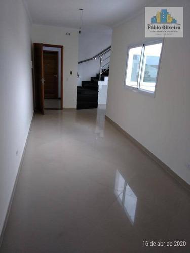 Imagem 1 de 30 de Cobertura Com 2 Dormitórios À Venda, 51 M² Por R$ 320.000,00 - Parque Novo Oratório - Santo André/sp - Co0106
