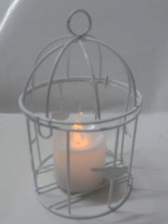 Farol Fanal Con Vela Led Calida 14x7 Lampara Vintage Deco$
