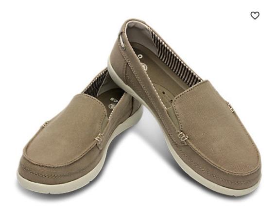 Zapatos Mocasín De Lona Crocs De Mujer Numero 36