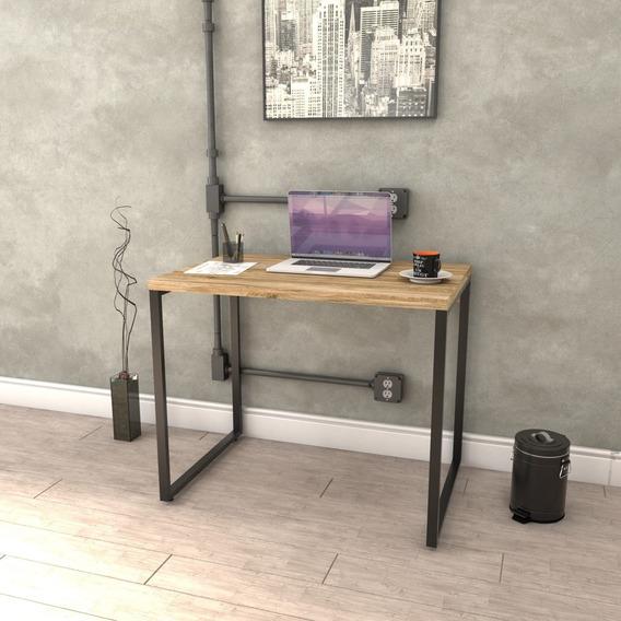 Mesa Para Escritório Office Estilo Industrial 0,90m Kuadra