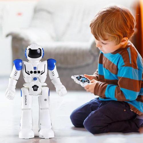 Imagen 1 de 9 de Androide Robot Control Rc Usb Juguete Camina Musica Baila