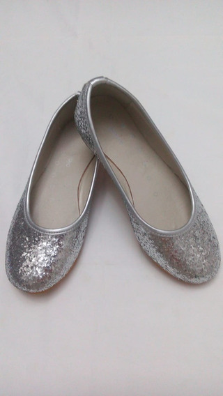 Zapatos Chatitas Ballerinas Gliter Nena Un Solo Uso