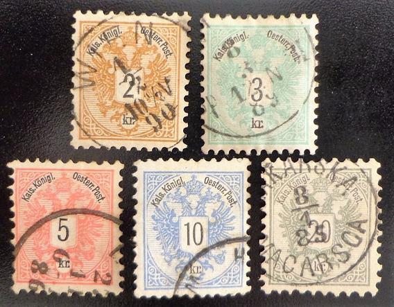 Austria, Serie Yv. 40-4 Escudo 1883 Usada L10392