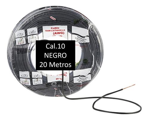 Bolsa 20 Mts Cable Iusa Negro Thw Cal 10 Awg 100%cobre