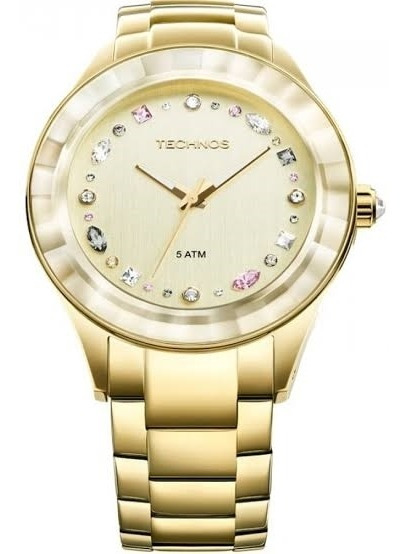 Relógio Technos Feminino Dourado 2036lms/4x