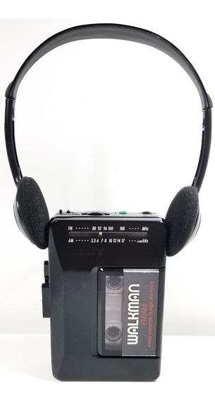 Walkman Sony Wm-f2015 ( Funciona Bem) + Fone De Arco Citizen