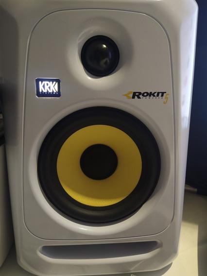 Monitor De Áudio Krk 5 Branco