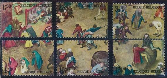 Sellos Belgica 1967 Juegos Infantiles Medievales Completa