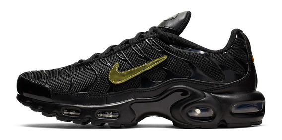 Tenis Nike Air Max Plus All Black Preto Swoosh Pack Casual