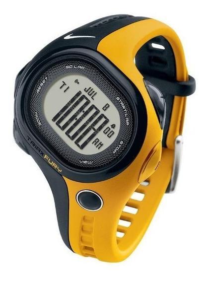 Relógio De Pulso Nike Triax Fury 50 Regular - Preto/amarelo