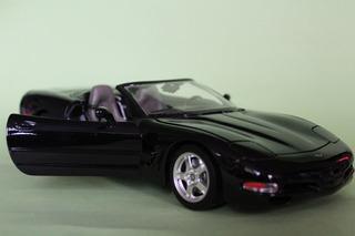 Bburago Corvette Auto Escala 1/18 Chevrolet Negro 1:18 Carro