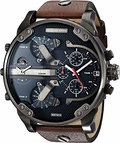 Diesel Masculino Dz7314 Mr Daddy 2.0 Gunmetal Brown.couro