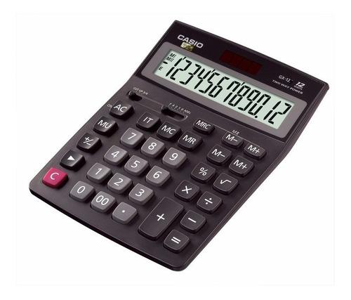 Calculadora Casio Gx 12b 12 Digitos Grandisplay Pila-solar