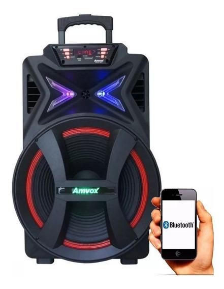 Caixa De Som Amplificada Bluetooth 500w Amvox Aca501