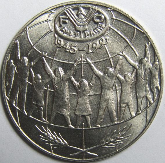 Andorra Moneda 25 Centimos 1995 Fao Km#109 Unc