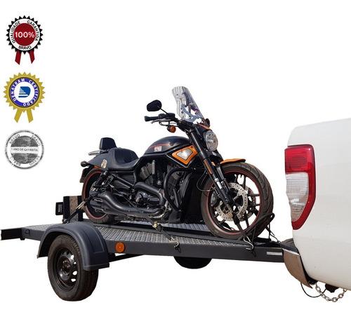 Imagem 1 de 8 de Carreta Reboque Basculante Para Uma Moto - Bravo Carretas