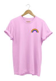 Camiseta Feminina Arco-íris Lgbt Baby Look