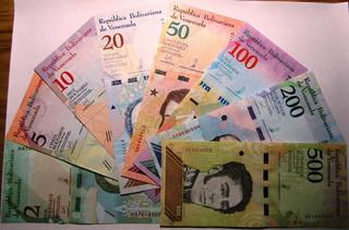 Venezuela Set X 8 Billetes Bolivares Soberanos 2018
