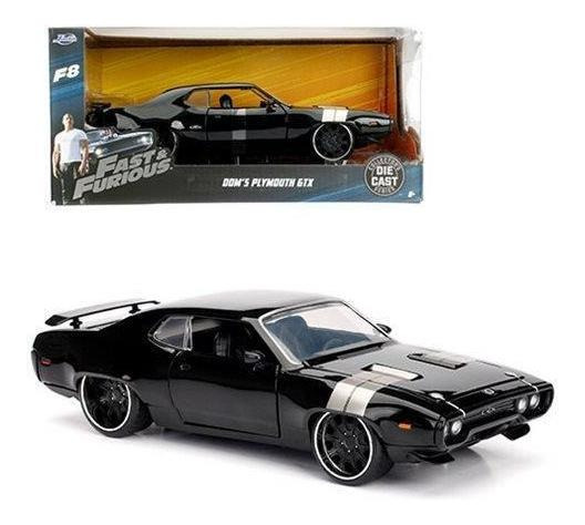 Jada Toys Fast And Furious 8 - Dom 72 Plymouth Gtx 1:24