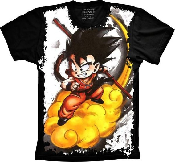 Camiseta Full Print Dragon Ball Goku Tamanhos Especiais