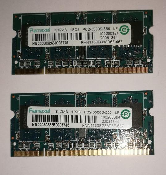 Ram 2x512 1rx8 Pc2-5300s-555